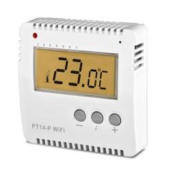 Termostat programowalny Elektrobock PT14-P WiFi przewodowy sterowany przez Wi-Fi