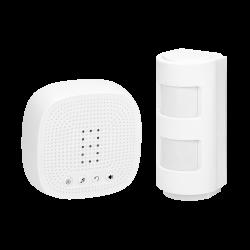 Alarm bezprzewodowy ORNO OR-MA-716 z sygnalizacją dźwiękową i świetlną, zasięg 300 m, IP44, do rozbudowy