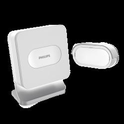 Bezprzewodowy dzwonek Philips WelcomeBell Basic, zasięg do 300 m - bateryjny