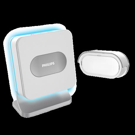 Bezprzewodowy dzwonek Philips WelcomeBell Color, zasięg do 300 m - bateryjny