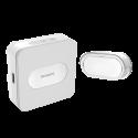 Bezprzewodowy dzwonek Philips WelcomeBell Plugin, zasięg do 300 m, ładowarka USB - sieciowy gniazdkowy