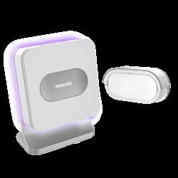Bezprzewodowy dzwonek Philips WelcomeBell MP3, zasięg do 300 m, wgrywanie dzwonków MP3 - bateryjny