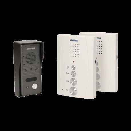 Głośnomówiący domofon jednorodzinny z interkomem ORNO ELUVIO INTERCOM OR-DOM-RE-920 - natynkowy