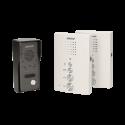 Domofon jednorodzinny głośnomówiący z interkomem, natynkowy ORNO ELUVIO INTERCOM OR-DOM-RE-920/W, biały