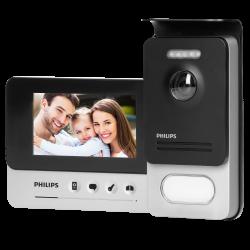 """Wideodomofon przewodowy Philips WelcomeEye Compact, monitor 4,3"""", sterowanie bramą, menu OSD"""