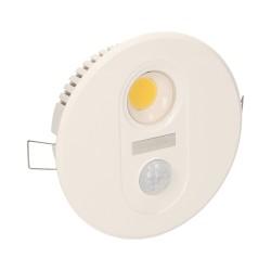 TOBIA LED 7W, oprawa z czujnikiem ruchu, 700lm, IP20, 3000K, biała Orno OR-OP-6003LR3