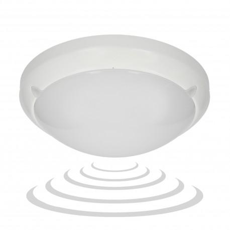 LUMO LED 3W/16W, plafon z mikrofalowym czujnikiem ruchu, 3 funkcyjnym, 1200lm, IP54, 4000K, poliwęglan mleczny, biały Orno