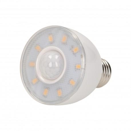 RICU LED 5W A60, żarówka z czujnikiem ruchu, 330-390lm, 3000K, E27 Orno OR-SW-7001LR3