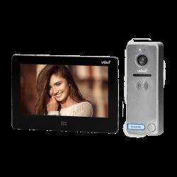 """Wideodomofon przewodowy ViBELL FELIS OR-VID-EX-1060/B LCD 7"""", rejestracja obrazu, dotykowy, sterowanie bramą, czarny"""