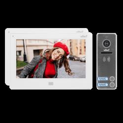 Wideodomofon dwurodzinny ViBELL FELIS MEMO2 OR-VID-EX-1064/W, rejestracja obrazu, dotykowy, sterowanie bramą