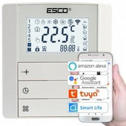 Termostat programowalny Esco TC410 WiFi przewodowy sterowany przez Wi-Fi