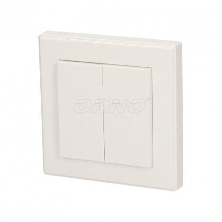 Włącznik natynkowy bezprzewodowy z funkcją ściemniacza - do systemu ORNO Smart Living - OR-SH-1711 (podwójny)