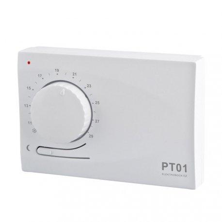 Termostat na pokrętło Elektrobock PT01 - przewodowy