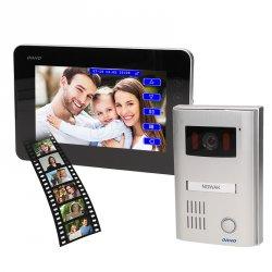 Wideodomofon przewodowy z pamięcią ORNO TEXTUS MEMO 7˝ - dotykowy - OR-VID-AT-1036 - 2 żyłowy