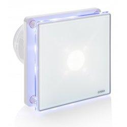 Wentylator łazienkowy STERR BFS100LT kolor biały z wyłącznikiem czasowym i podświetleniem LED