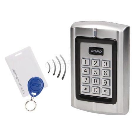 Zamek szyfrowy z czytnikiem kart i breloków zbliżeniowych ORNO OR-ZS-802