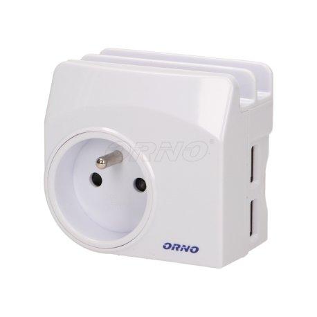 Ładowarka sieciowa USB z gniazdem elektrycznym i stacją dokującą ORNO OR-AE-1344