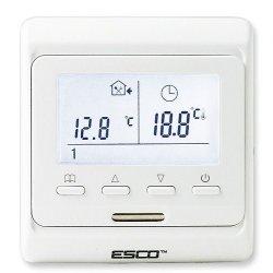 Termostat programowalny Esco TC520 - przewodowy z drugim wyjściem przekaźnikowym