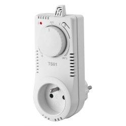 Termostat gniazdkowy Elektrobock TS01 - analogowy bez programatora