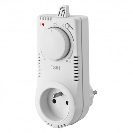 Termostat gniazdkowy Elektrobock TS01 z pokrętłem bez programatora