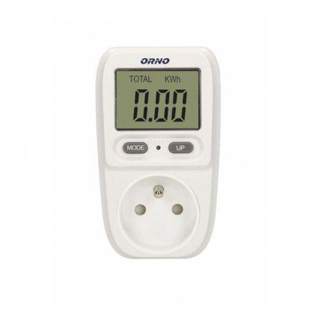 Miernik zużycia energii ORNO OR-WAT-419 - gniazdkowy z dużym wyświetlaczem LCD