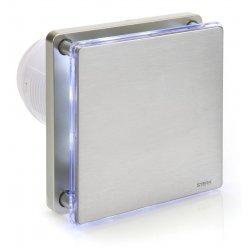Wentylator łazienkowy STERR BFS100LT-S nierdzewny z wyłącznikiem czasowym i podświetleniem LED