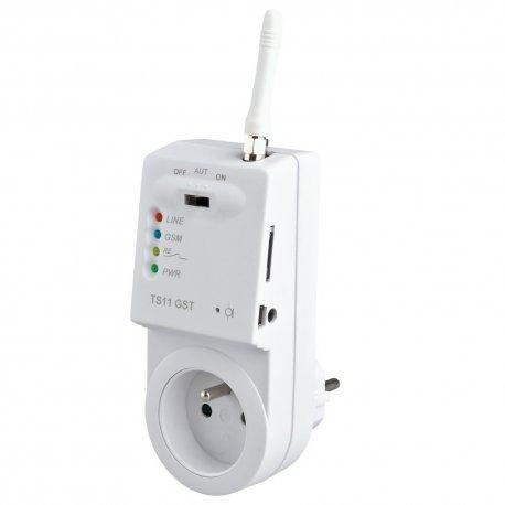 Gniazdo - termostat GSM sterowany SMS Elektrobock TS11 GST - aplikacje dla Android i iOS