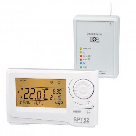 Termostat programowalny Elektrobock PT52 z komunikacją OpenTherm Plus - przewodowy