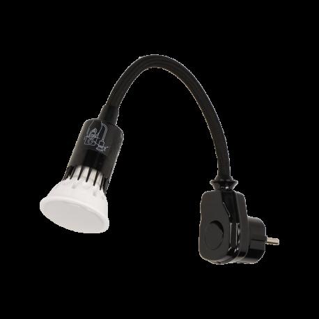 Lampka nocna z żarówką LED ORNO AWA-LW/CZ wtyczkowa