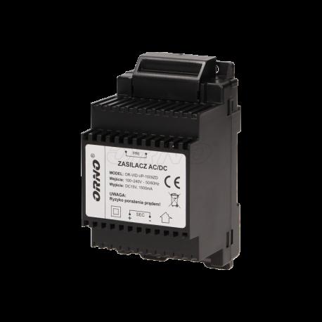 Zasilacz 15 V na szynę DIN ORNO OR-VID-VP-1009ZD
