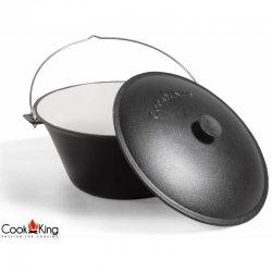 Kociołek węgierski z pokrywą CookKing żeliwny, emaliowany pojemność 8 l