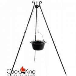 Kociołek węgierski na trójnogu CookKing emaliowany, pojemność 14 l / wysokość 180 cm