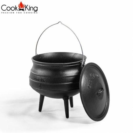 Kociołek afrykański z pokrywą CookKing żeliwny, pojemność 13 l