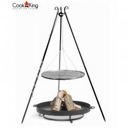 Grill ogrodowy CookKing na trójnogu 180 cm, stalowy ruszt 80 cm + palenisko Malta 80 cm