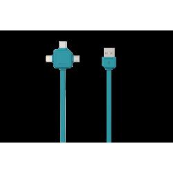 Przewód do ładowania USBcable USB-C - 3 w 1 -  Apple Lightning, USB-C, Micro USB