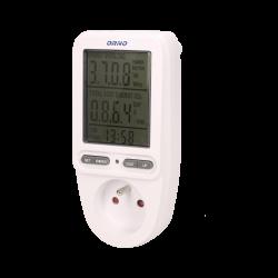 Miernik zużycia energii ORNO OR-WAT-435 - gniazdkowy z dużym wyświetlaczem LCD