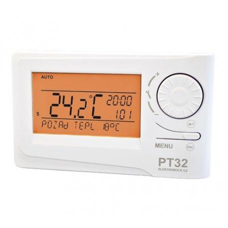 Inteligentny termostat przewodowy Elektrobock PT32 z możliwością sterowania modułem GSM