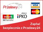Zapłać online kartą lub przelewem z Przelewy24